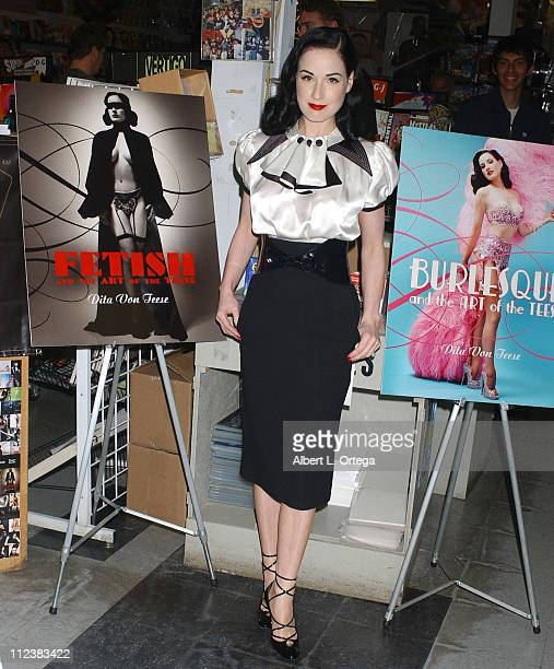 """Dita Von Teese during Dita Von Teese Signs Her Book """"Burlesque and the Art of the Teese"""" at Golden Apple in Los Angeles - April 8, 2006 at Golden..."""