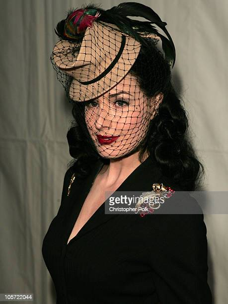 "Dita von Teese during DKNY Jeans and Lo-Fi Gallery Present ""Mick Rock Live in LA"" Exhibit at Lo-Fi Gallery in Hollywood, California, United States."
