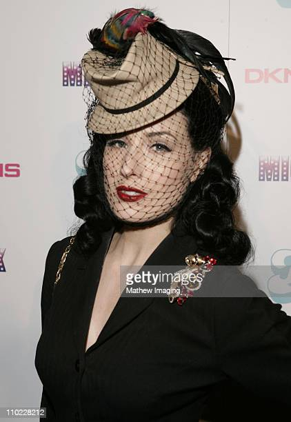 Dita von Teese during DKNY Jeans and LoFi Gallery Present 'Mick Rock Live in LA' Exhibit at LoFi Gallery in Hollywood California United States
