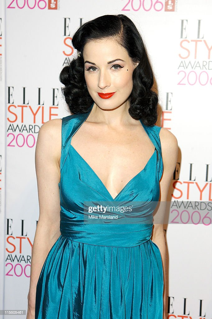 Dita Von Teese during Elle Style Awards 2006 - Inside Arrivals at Old Truman Brewery in London, Great Britain.
