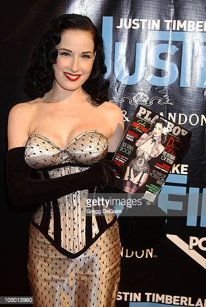 Dita Von Teese during Justin Timberlake Album Release Party For His Debut Solo Album 'Justified' at Smashbox Studios in Culver City California United...