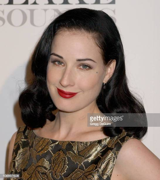 Dita Von Teese during Justin Timberlake Celebrates the Release of His Album Futuresex/Lovesounds at Miauhaus Studios in Los Angeles California United...