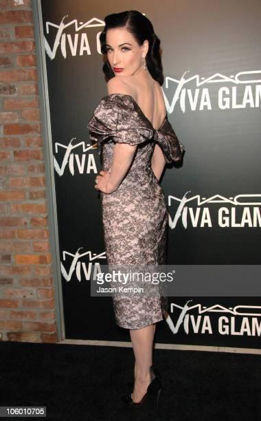 Dita Von Teese during MAC Cosmetics Viva Glam VI Dinner at Cedar Lake in New York City New York United States
