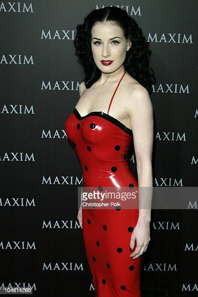 Dita Von Teese during Maxim Magazine Heats Up LA With The Pussycat DollsArrivals at The Henry Fonda Theatre in Hollywood CA United States