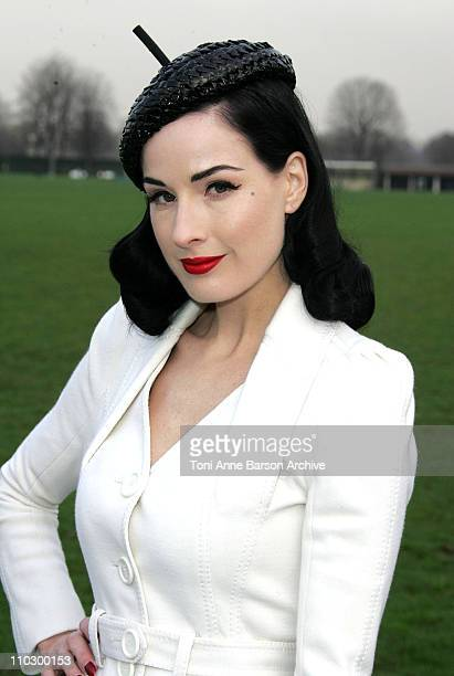 Dita Von Teese during Paris Fashion Week Haute Couture Spring/Summer 2007 Christian Dior Arrivals at Paris in Paris France