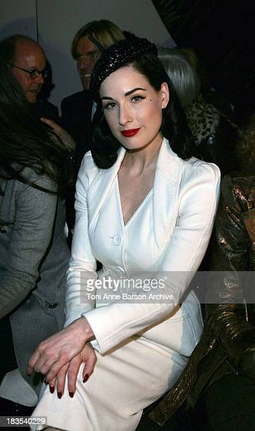 Dita Von Teese during Paris Fashion Week Haute Couture Spring/Summer 2007 Christian Dior Front Row at Paris in Paris France