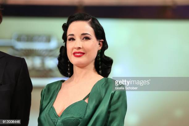Dita von Teese during the 20th Lambertz Monday Night 2018 at Alter Wartesaal on January 29 2018 in Cologne Germany