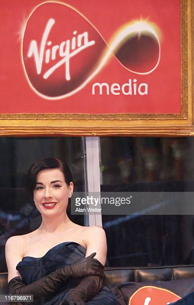 Dita Von Teese during Virgin Media Photocall at Covent Garden in London Great Britain