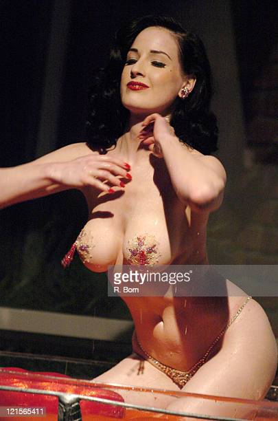 Dita Von Teese during Virgin Mobile Presents 3 Ways To Pay As You Go at Sky Studio in New York City New York United States