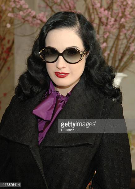 Dita Von Teese during W Magazine Retreat Day 1 at Private Residence in Beverly Hills California United States