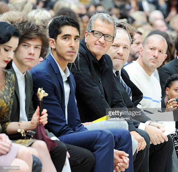 Dita Von Teese Harry Styles Dev Patel Mario Testino Harvey Weinstein and Sir Jonathan Ive attends the Burberry Spring Summer 2013 Womenswear Show...