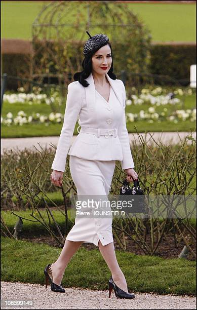 Dita Von Teese in Paris France on January 22 2007
