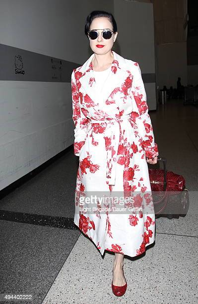 5f8f531f66d2 Dita Von Teese is seen at LAX Airport in Los Angeles Ca on October 26 2015