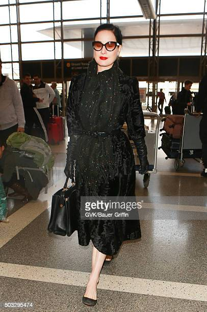 0f26287d5ed1 Dita Von Teese is seen at LAX on January 03 2016 in Los Angeles California