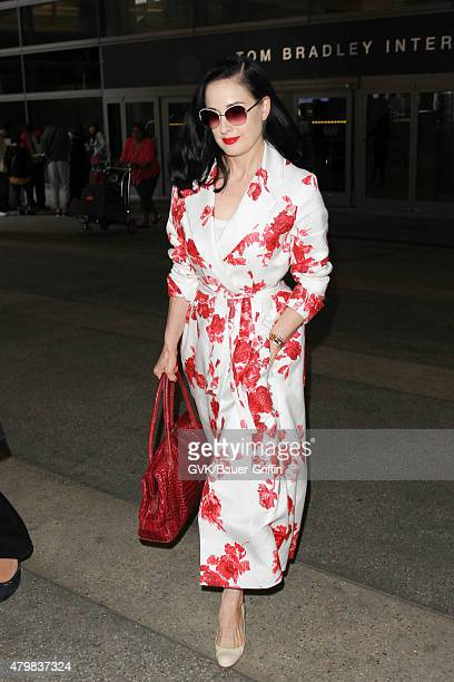 372f4fe34234 Dita Von Teese is seen at LAX on July 07 2015 in Los Angeles California