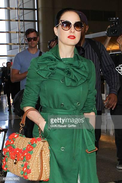 f79d2da1aa5b Dita Von Teese is seen at LAX on July 18 2014 in Los Angeles California