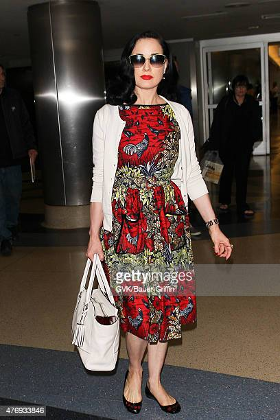6f5bd17bc656 Dita Von Teese is seen at LAX on June 12 2015 in Los Angeles California