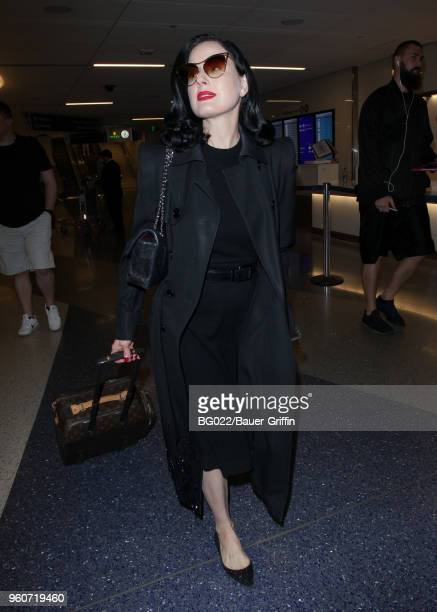 81ab7215ad9c Dita Von Teese is seen at LAX on May 20 2018 in Los Angeles California