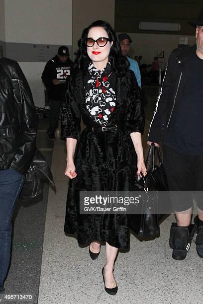 e657a58fbfda Dita Von Teese is seen at LAX on November 04 2015 in Los Angeles California