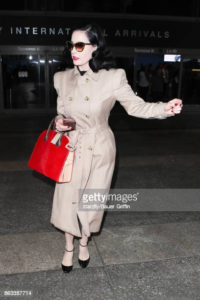 21d3a3d8799c Dita Von Teese is seen at LAX on October 19 2017 in Los Angeles California