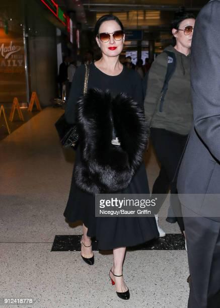 Dita Von Teese is seen on January 30 2018 in Los Angeles California