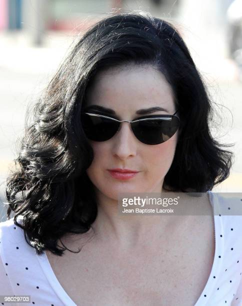Dita Von Teese is seen on March 24 2010 in West Hollywood California