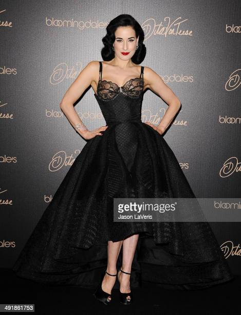 Dita Von Teese launches her lingerie collection at Bloomingdale's Century City on May 17 2014 in Century City California