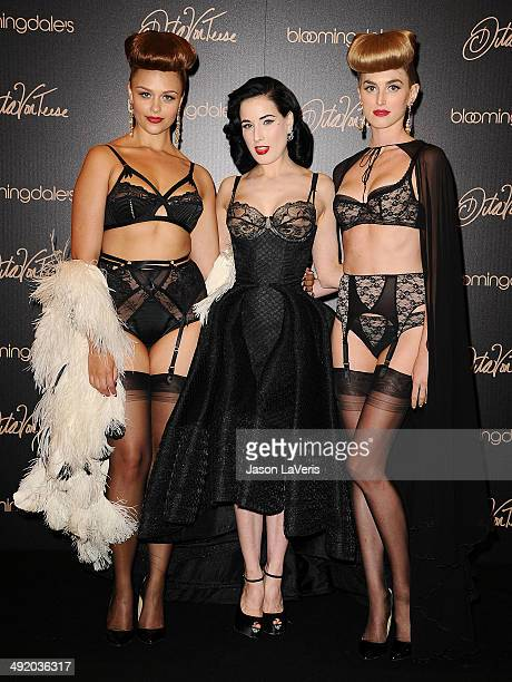 2714c02d248f Dita Von Teese launches her lingerie collection at Bloomingdale s Century  City on May 17 2014 in