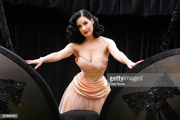 Dita Von Teese launches her Wonderbra collection at Covent Garden Market on September 23 2008 in London England