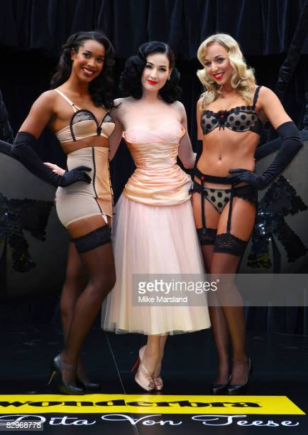 Dita Von Teese launches her wonderbra collection at Covent Garden Market on September 23, 2008 in London, England.