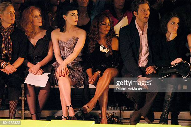 Dita Von Teese Lil Kim and Winona Ryder attend MARC JACOBS Spring 2007 Fashion Show at New York Armory on September 11 2006 in New York City