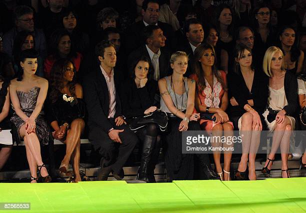 Dita Von Teese Lil Kim guest Winona Ryder guest Eva Mendes Emily Mortimer and Kate Bosworth
