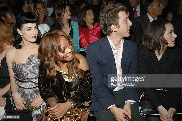 Dita Von Teese Lil Kim Henry Alex Rubin and Winona Ryder attend MARC JACOBS Spring 2007 Fashion Show at New York Armory on September 11 2006 in New...