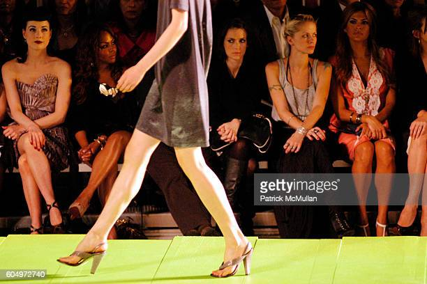 Dita Von Teese Lil Kim Winona Ryder and Eva Mendez attend MARC JACOBS Spring 2007 Fashion Show at New York Armory on September 11 2006 in New York...