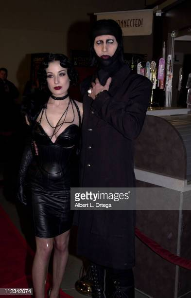 Dita Von Teese Marilyn Manson during 'Resident Evil' Premiere at The Mann Chinette Theater in Los Angeles California United States