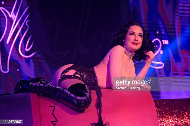 Dita von Teese performs at Giorgio's presented by L'Affaire Musicale, Orlove Entertainment And 89.9 KCRW at Globe Theater on April 27, 2019 in Los...