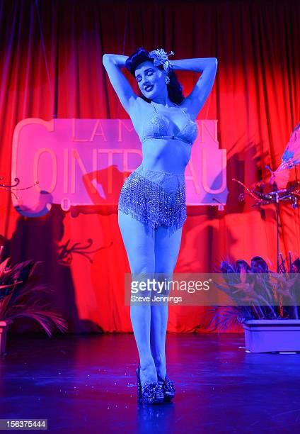 Dita Von Teese performs at La Maison Cointreau November 13 2012 in San Francisco California