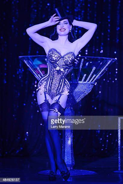 Dita Von Teese performs at Revolution on April 10, 2014 in Fort Lauderdale, Florida.