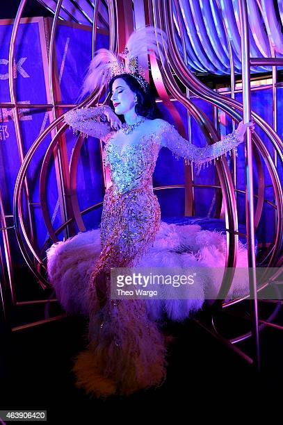 Dita Von Teese performs during W Hotels kicks off of Global 'Rock the Empire' Tour to celebrate the opening of W Beijing at W New York – Downtown on...