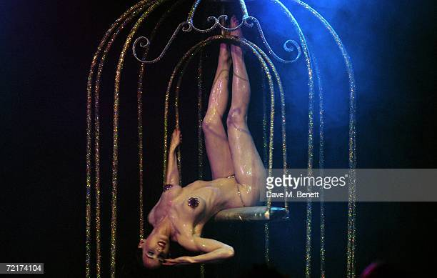 Dita Von Teese performs her first burlesque show for UK fans, at KOKO Club on October 15, 2006 in London, England.