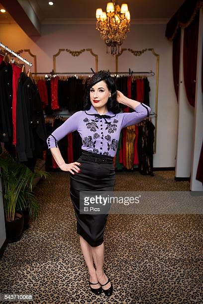 Dita Von Teese poses for portraits prior to a meet and greet with fans on June 29 2016 in Sydney Australia