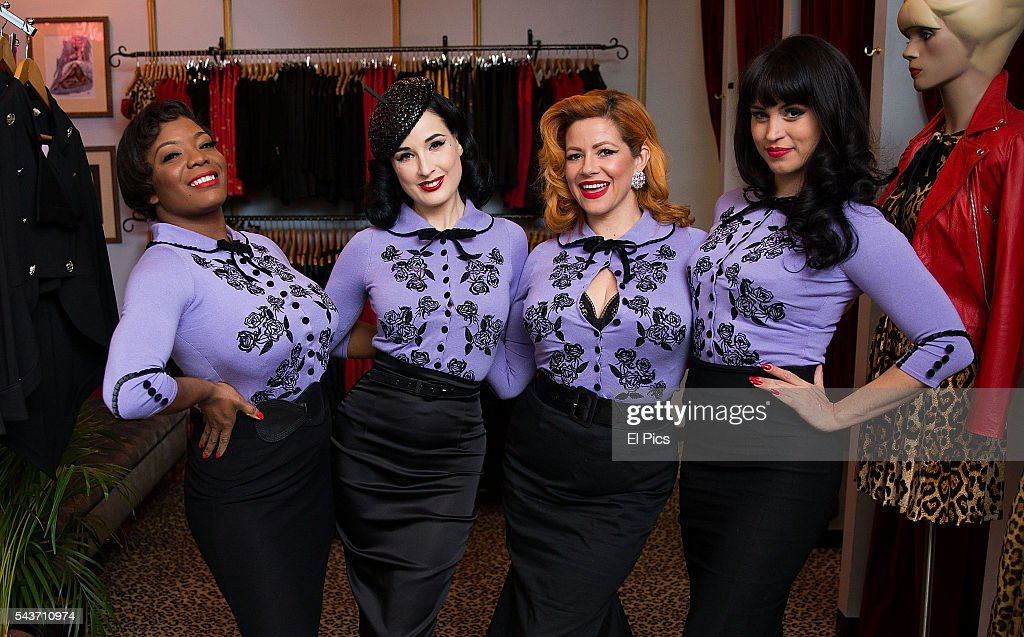 Dita von teese greets fans in sydney photos and images getty images dita von teese poses with other performers before a meet and greet with fans on june m4hsunfo