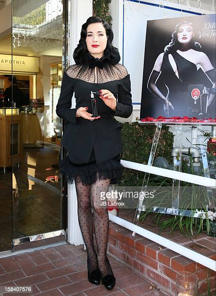 Dita Von Teese promotes her new perfume at Ron Robinson Fred Segal on December 15 2012 in West Hollywood California