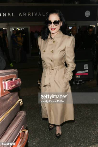 bacb26628817 Dita Von Teese seen at LAX on June 28 2017 in Los Angeles California