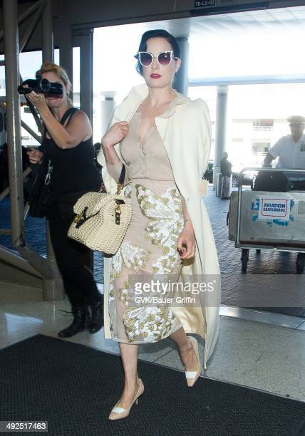 e306b3df3fac Dita Von Teese seen at LAX on May 20 2014 in Los Angeles California