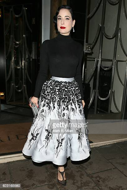 293142a2a545 Dita Von Teese seen leaving Claridge s Hotel holding the new Eden Classic  clutch by Ralph and