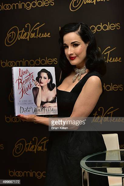 Dita Von Teese visits the Bloomingdale's 59th Street Store to sign copies of her new book 'Your Beauty Mark' on December 2 2015 in New York City