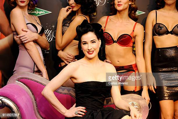 Dita Von Tesse attends 'Party Edition' opening by Wonderbra at El Corte Ingles Store on October 5 2009 in Madrid Spain