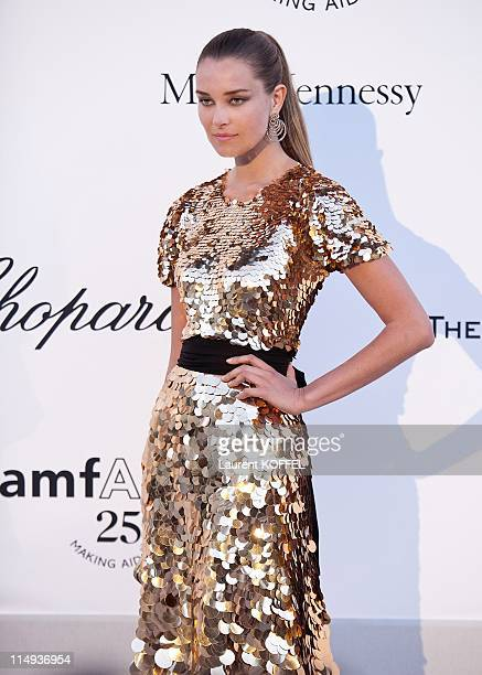 Dite Anata attends amfAR's Cinema Against AIDS Gala during the 64th Annual Cannes Film Festival at Hotel Du Cap on May 19 2011 in Antibes France