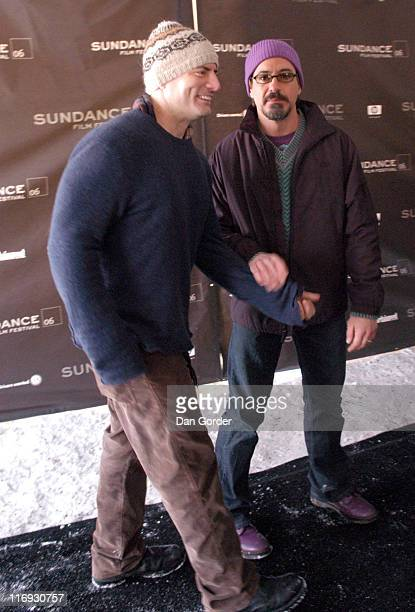 Dito Montiel director and Robert Downey Jr during 2006 Sundance Film Festival 'A Guide to Recognizing Your Saints' Premiere at Racquet Club in Park...
